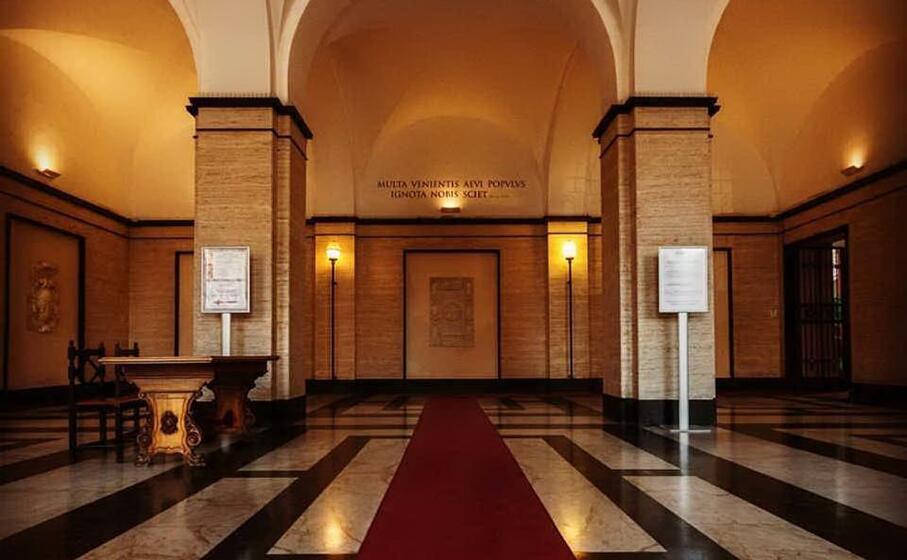 l atrio dell universit di sassari (archivio l unione sarda)