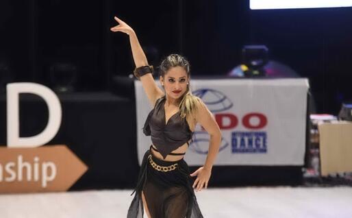 Sarah Tola, ballerina della Numero Uno Sardegna di Porto Torres (foto Vanna Chessa)