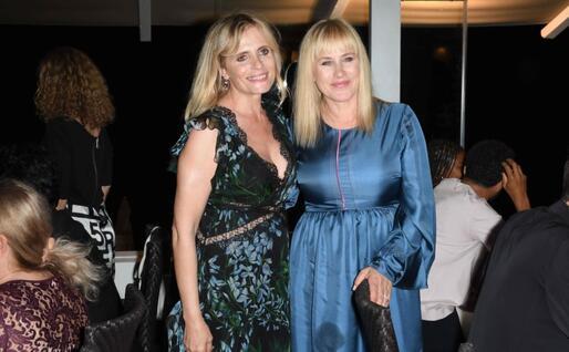 Isabella Ferrari e Patricia Arquette (foto concessa da Tiziana Rocca Comunicazione)