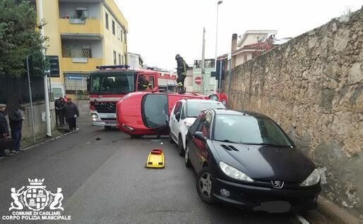 L'incidente (foto Polizia municipale)
