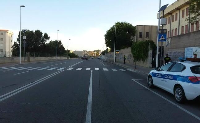 il luogo dell incidente (foto polizia locale)