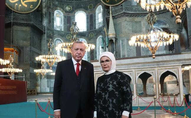 erdogan all interno della struttura (ansa)