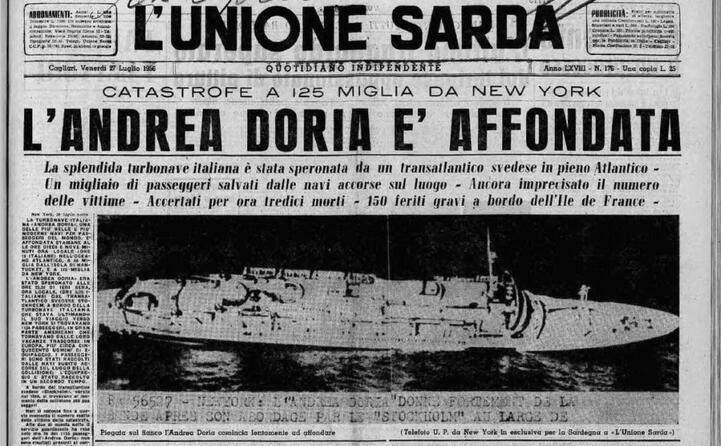 la notizia dell affondamento (l unione sarda)