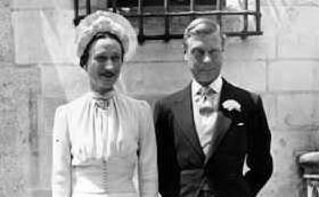 wallis simpson e edoardo il giorno del matrimonio 3 giugno 1937