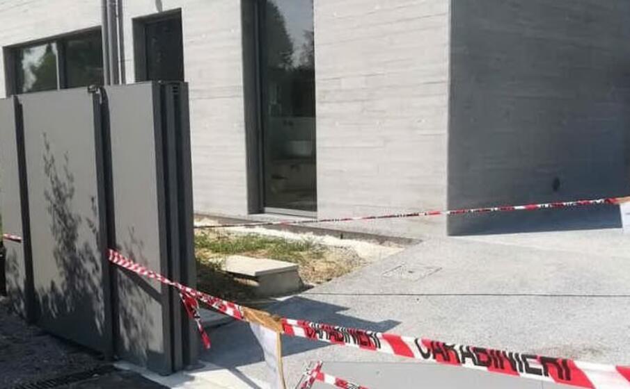 il luogo dell incidente (foto da frame video)