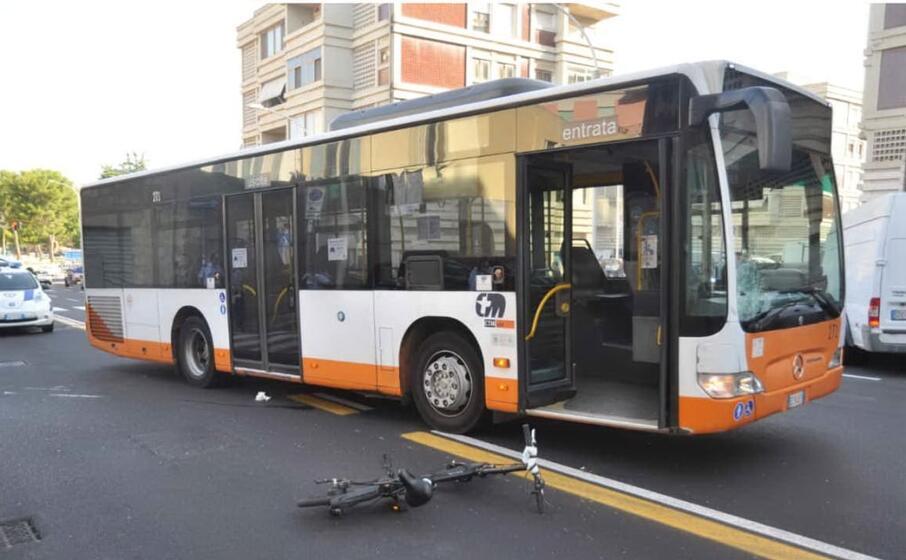 uno scatto dal luogo dell incidente (foto polizia municipale)