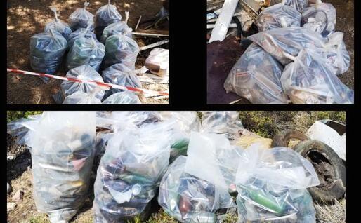 I rifiuti raccolti (Foto C.Fiori)