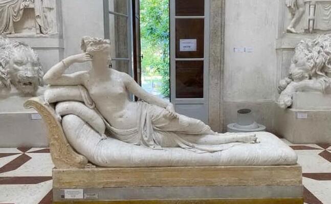 la preziosa statua di canova (foto museo canova)