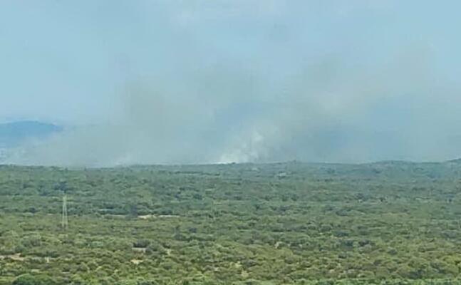 l incendio di paulilatino (foto l unione sarda sanna)