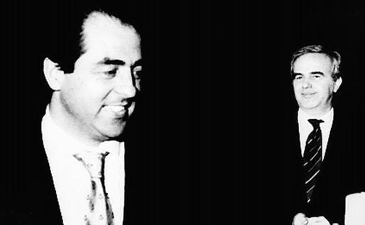 Antonio Di Pietro e Mario Chiesa (Ansa)