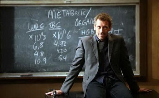 Il dr. House (foto da frame video)