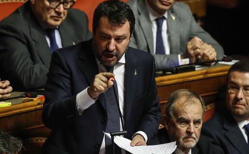 L'intervento di Salvini (Ansa - Frustaci)