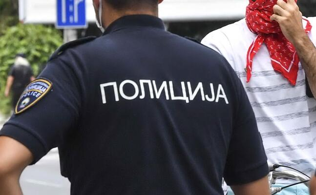 polizia macedone (foto ansa epa)
