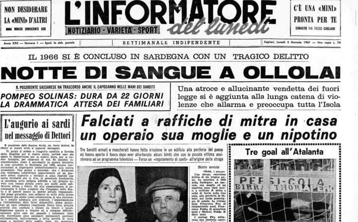 accaddeoggi 2 gennaio 1967 si indaga sulla strage di ollolai
