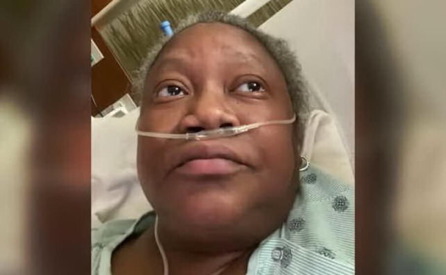susan moore in un frame del video pubblicato sulla sua pagina facebook