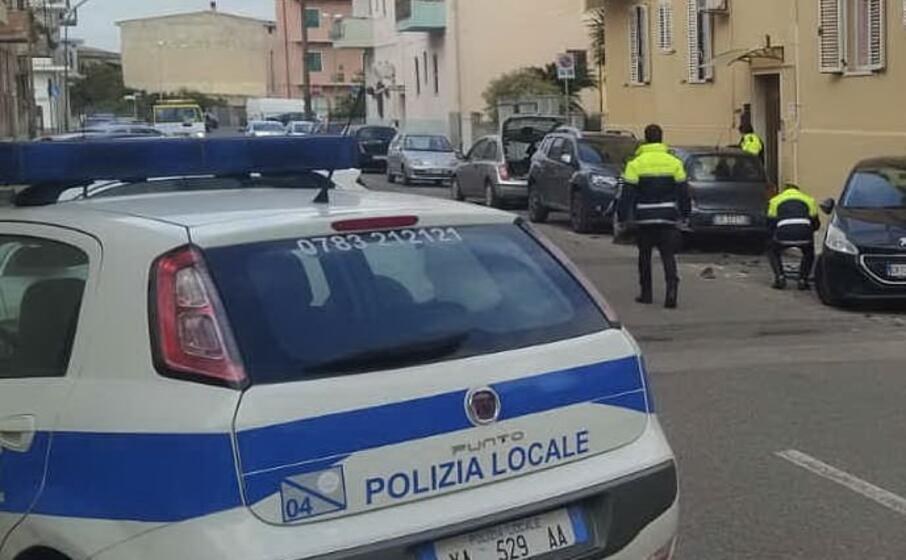 i rilievi dell incidente provocato dal pirata (foto e sanna)