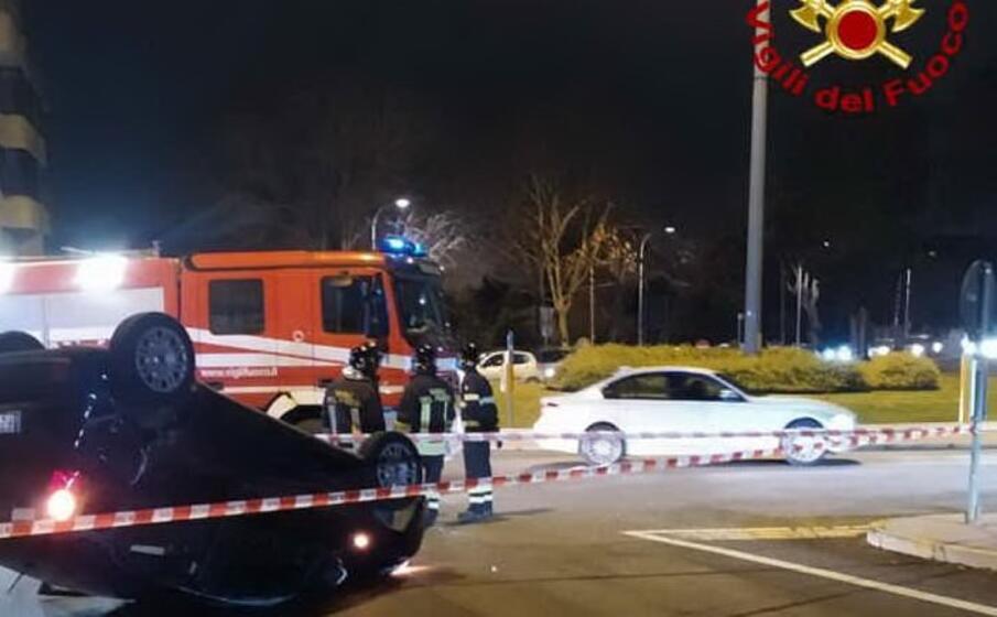 il luogo dell incidente (foto vigili del fuoco)