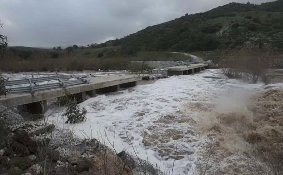il ponte sul rio sologo distrutto dall alluvione del 2013 (archivio l unione sarda)