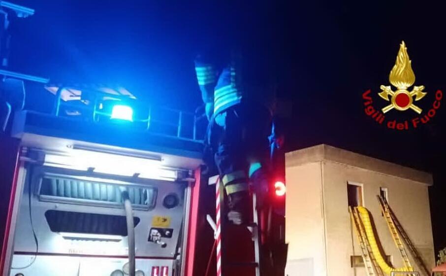 l intervento dei vigili del fuoco