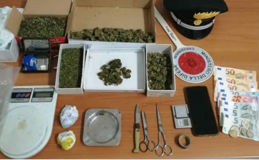il materiale posto sotto sequestro (foto carabinieri)