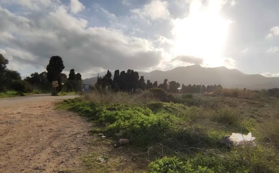 la zona del ritrovamento dei sacchi (foto murgana)