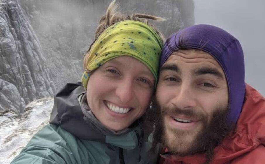 il selfie di jobber e froukje sulla cima di punta carabidda (foto pinna)