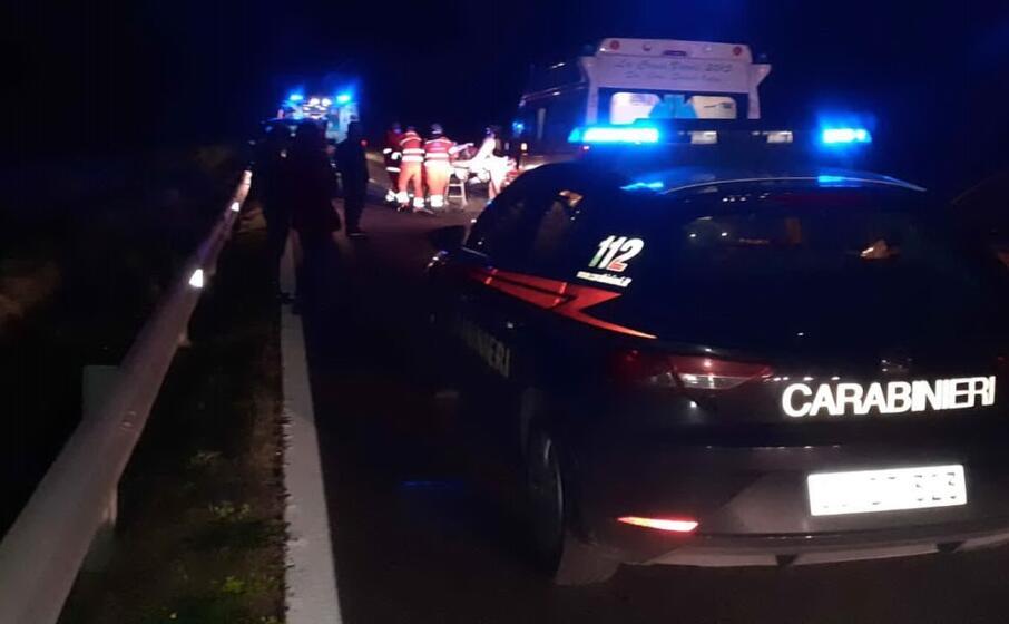il luogo dell incidente (foto carabinieri)