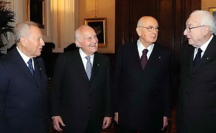 con i presidenti della repubblica carlo azeglio ciampi giorgio napolitano e francesco cossiga (archivio l unione sarda)