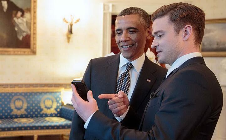 con il presidente americano barack obama (foto wikipedia)