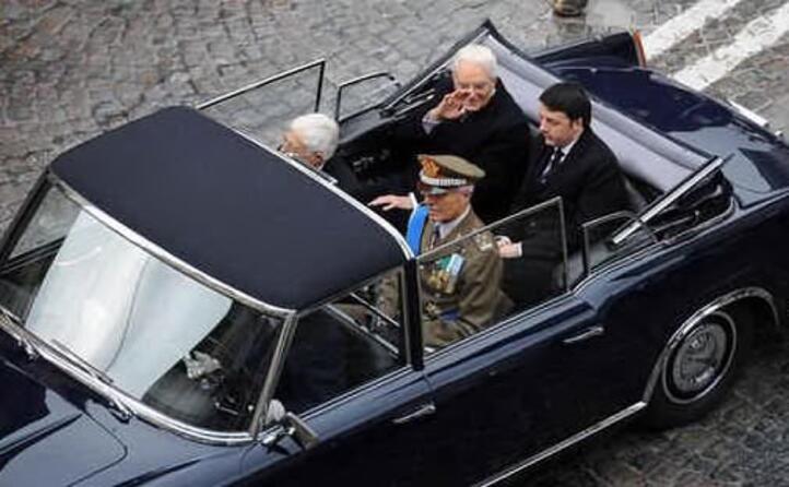 con l allora premier matteo renzi durante l insediamento