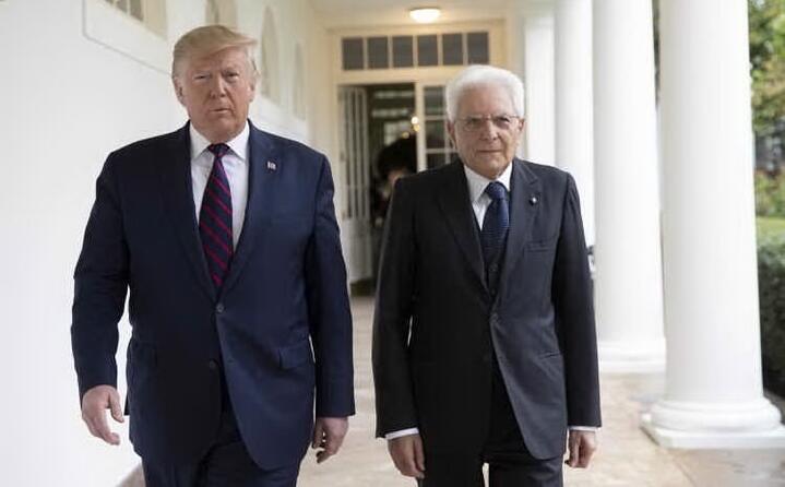 con l ex presidente usa trump