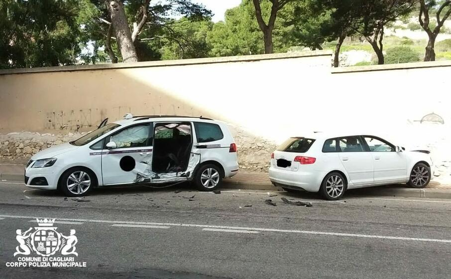 i veicoli coinvolti nello scontro