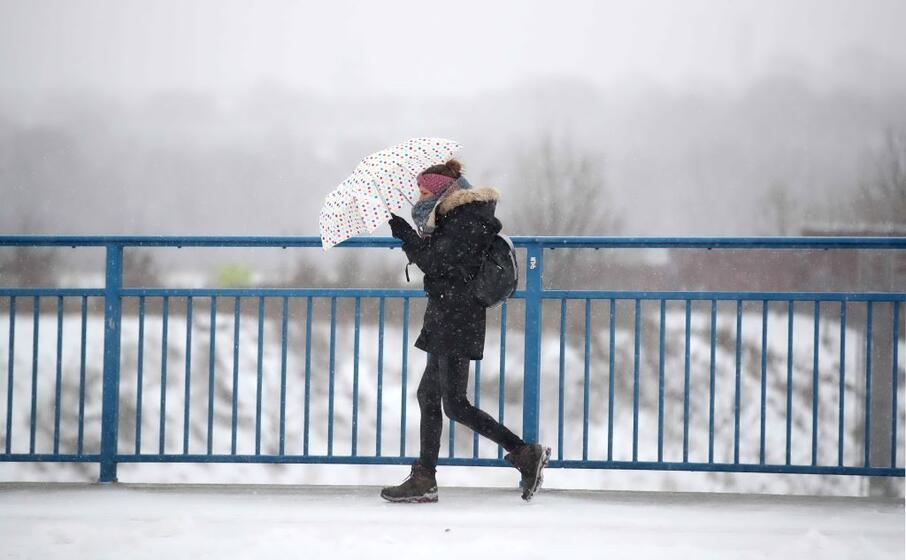 numerose le citt tedesche investite dall ondata gelo artico