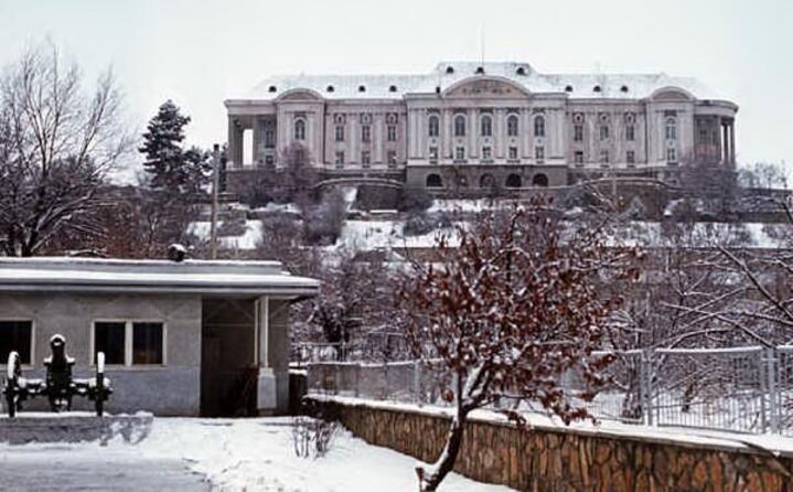 il palazzo presidenziale di kabul divenuto sede del quartiere generale dell armata sovietica