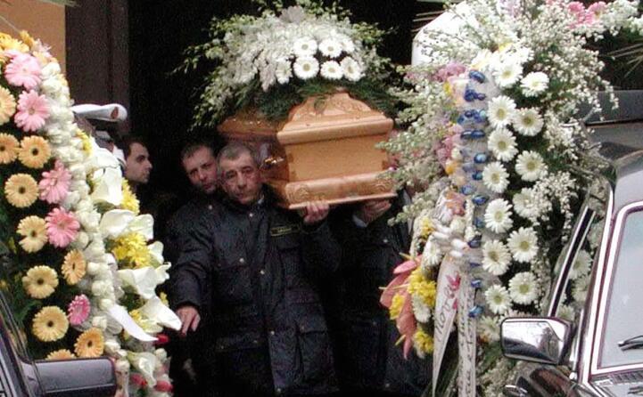 i funerali delle due vittime