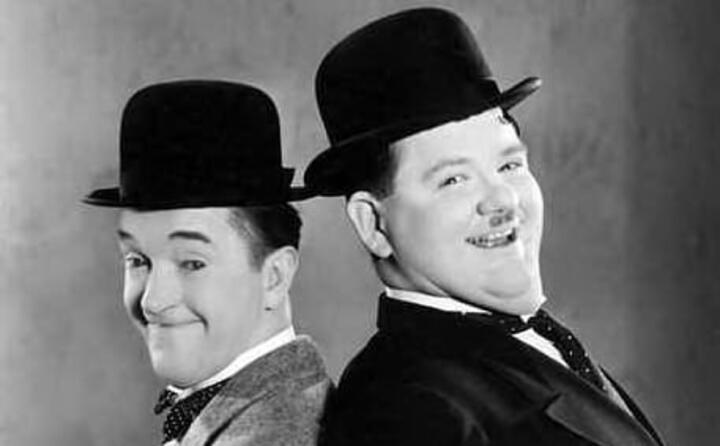 accaddeoggi 23 febbraio 1965 muore stan laurel (a sinistra)
