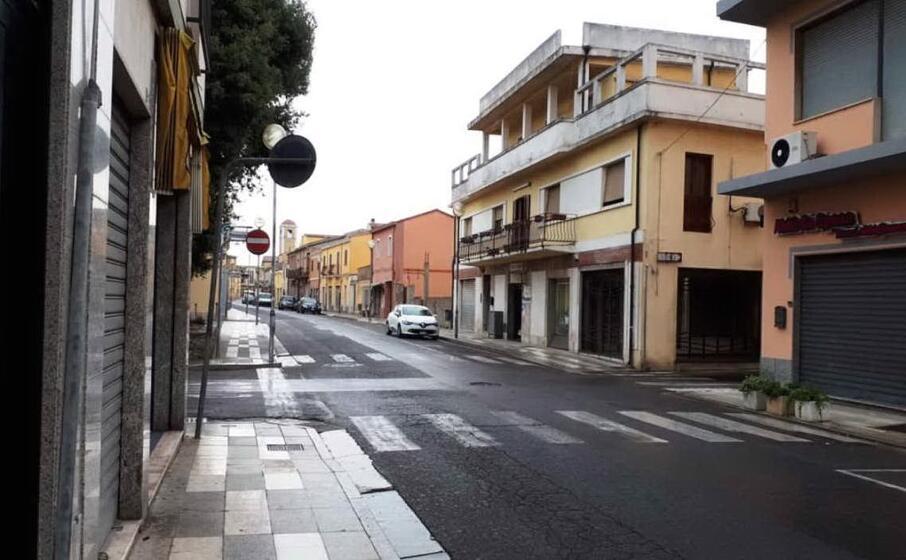 via roma una delle strade principali di san gavino monreale (foto pittau)