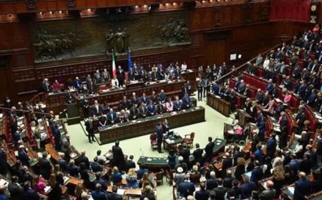 il parlamento italiano (ansa)
