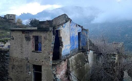 Uno scorcio delle rovine di Gairo Vecchia (L'Unione Sarda)