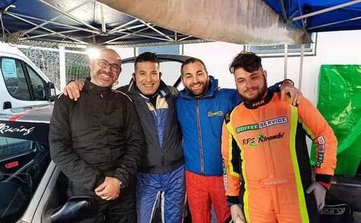 Da sinistra, i sardi Francesco Fois, Marino Gessa, Marco Demontis e Nicola Demontis, oggi in gara al Ciocchetto (Foto Chessa)