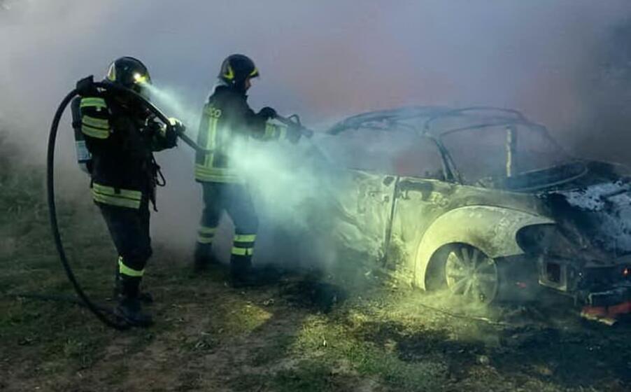 l intervento del 115 (foto vigili del fuoco)