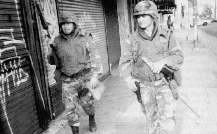 per sedare la sommossa interviene anche la guardia nazionale (foto wikipedia)