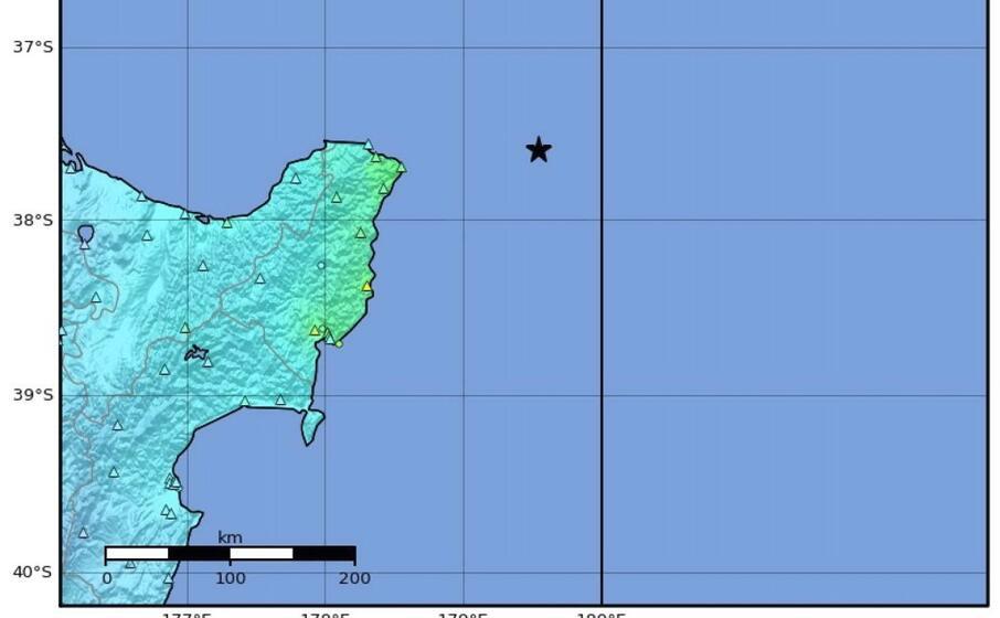 il punto esatto dove stato localizzato l epicentro (ansa)