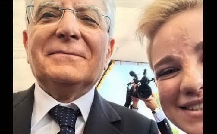 il selfie con il presidente della repubblica sergio mattarella (foto instagram)