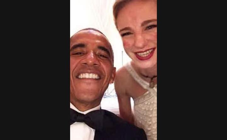 l autoscatto con il presidente barack obama alla casa bianca
