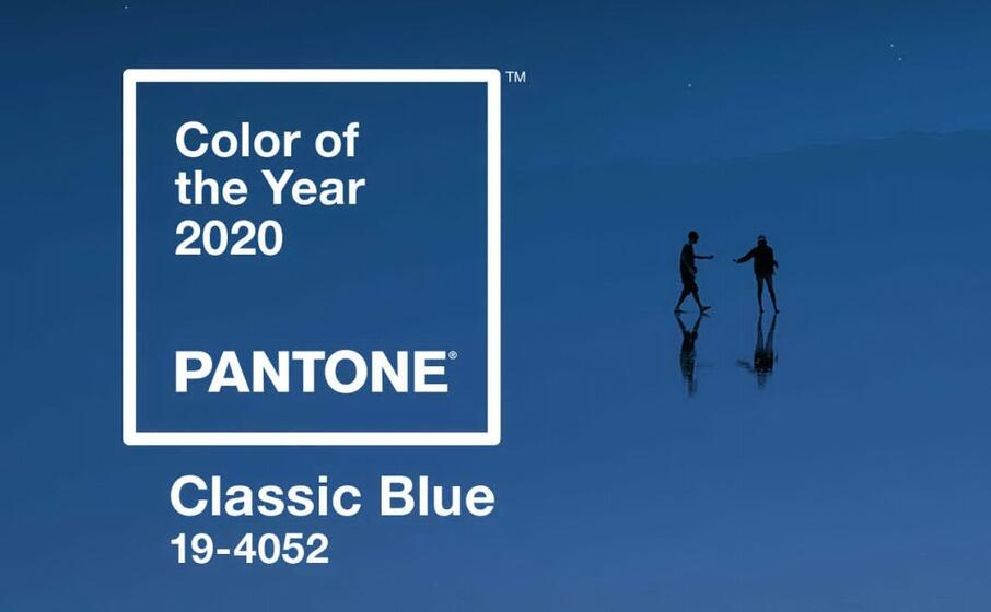 l immagine con la quale pantone ha scelto il blu come colore del 2020