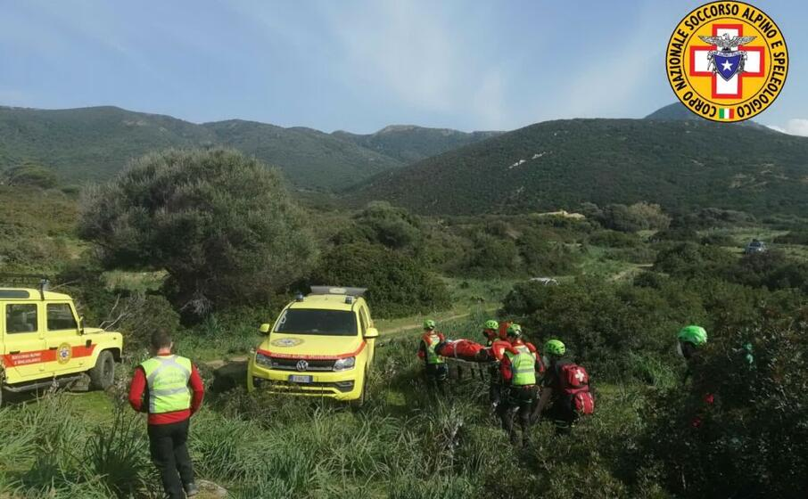 l intervento (foto corpo nazionale soccorso alpino e speleologico)
