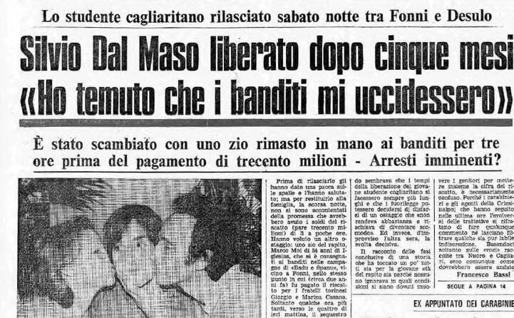 la notizia della liberazione avvenuta il 15 agosto