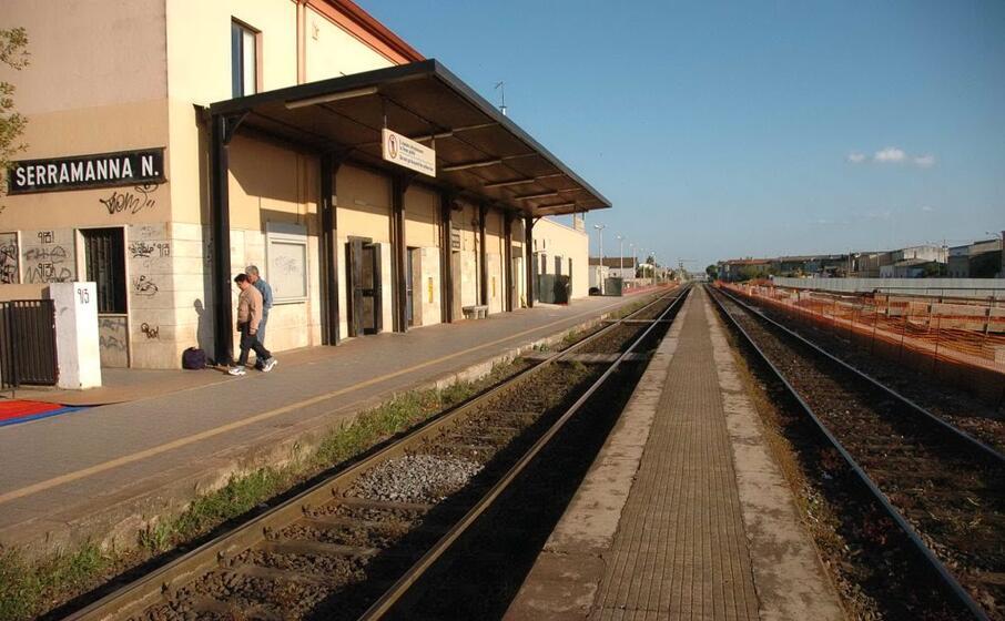 la stazione di serramanna (archivio l unione sarda)