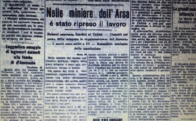 un articolo del 1940 su l unione sarda dedicato alla tragedia